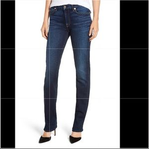 7 for all Mankind straight leg denim jeans